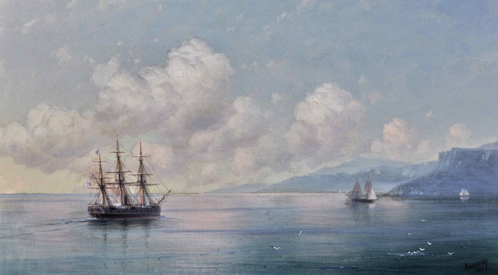 Ivan Aivazovsky 'Ship off the Crimean Coast', Image Courtesy of Sotheby's