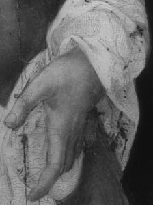 Detail of the hand from Sotheby's Cleopatra by Michele Tosini